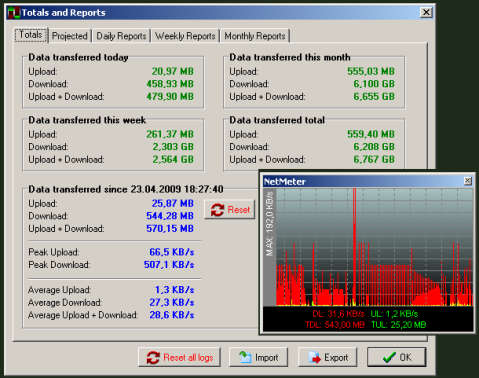 NetMeter 1.1.4 b Traffic Monitor